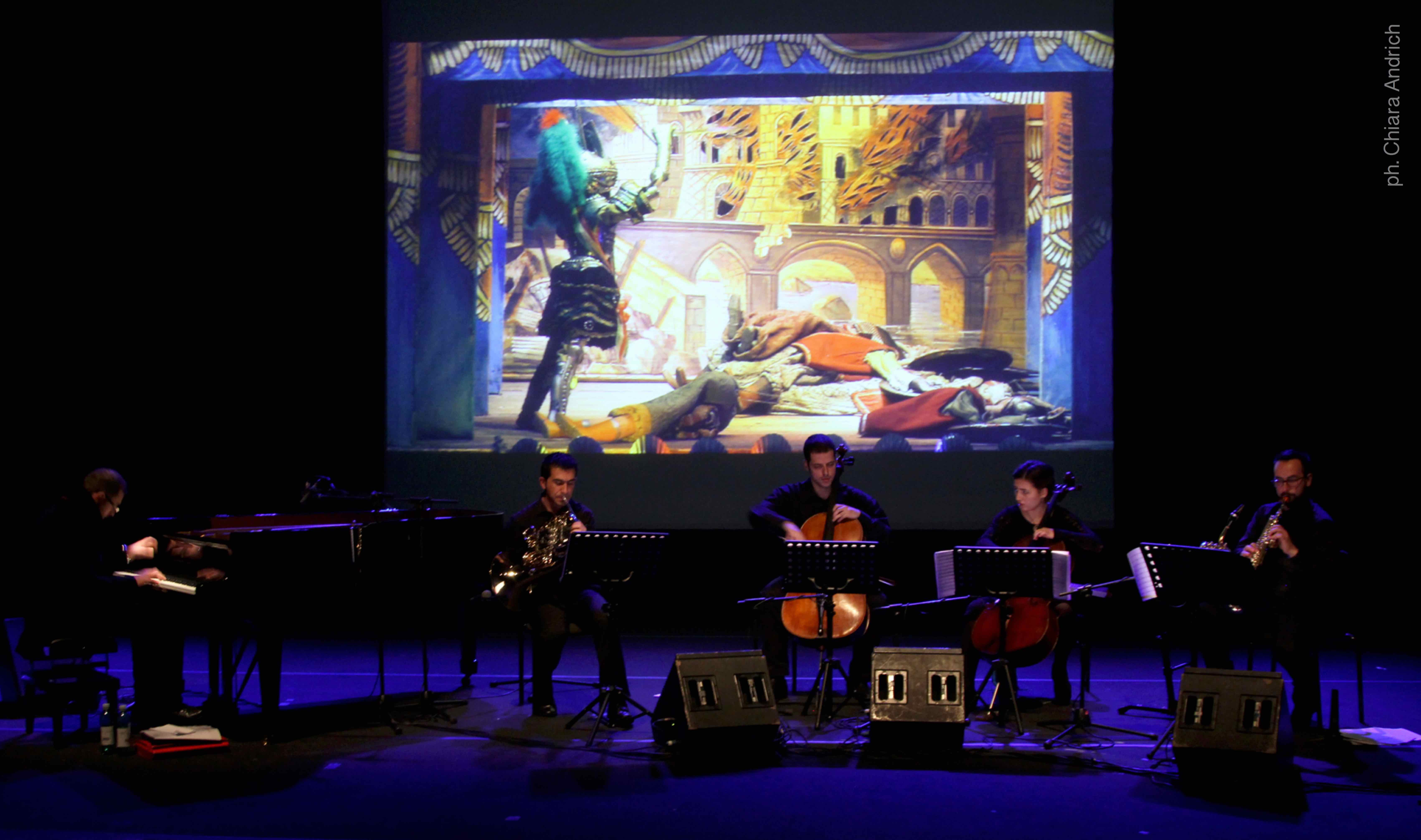 """Giacomo Cuticchio Ensemble perform """"Rapsodia Fantastica"""" Roma - Auditorium Parco della Musica © Chiara Andrich 2014"""