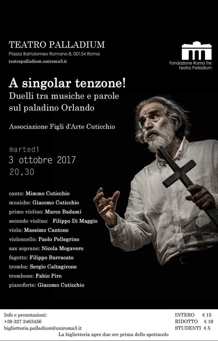 Martedì 3 Ottobre 2017 Roma, Teatro Palladium