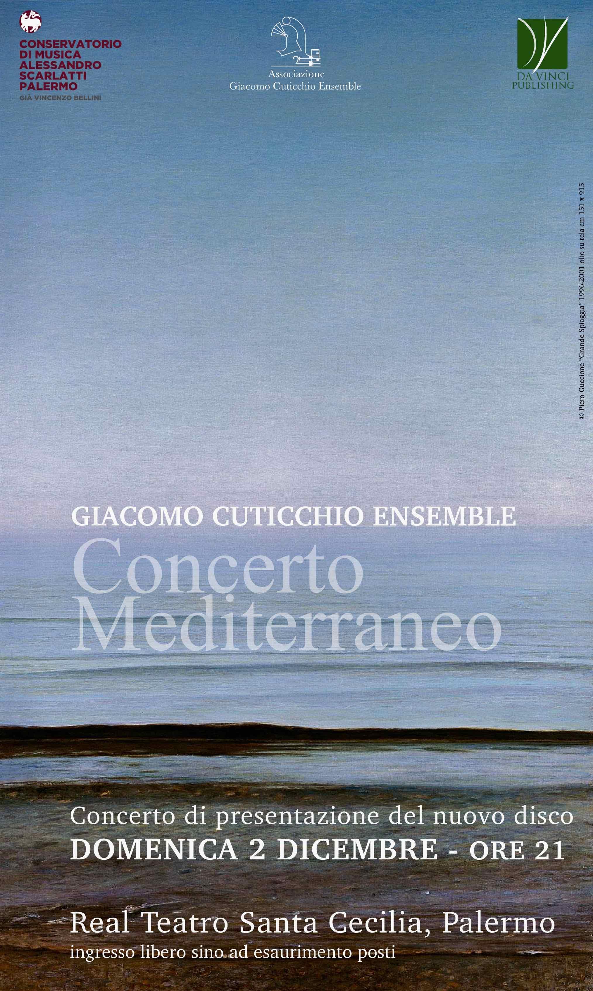 CONCERTO E PRESENTAZIONE DEL NUOVO DISCO DEL Giacomo Cuticchio Ensemble Domenica 2 dicembre 2018 ore 21 Palermo, Real Teatro Santa Cecilia